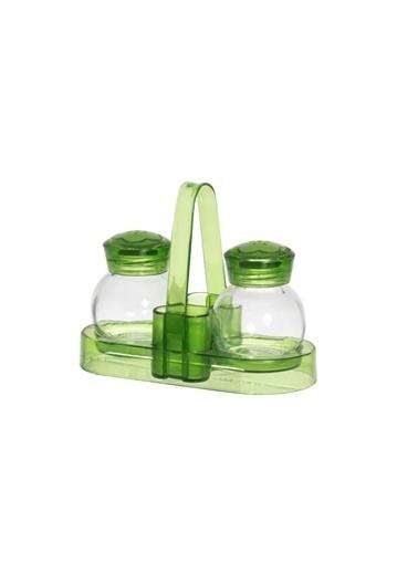 Herevin 60 cc Cam Tuzluk Biberlik Seti Yeşil Yeşil